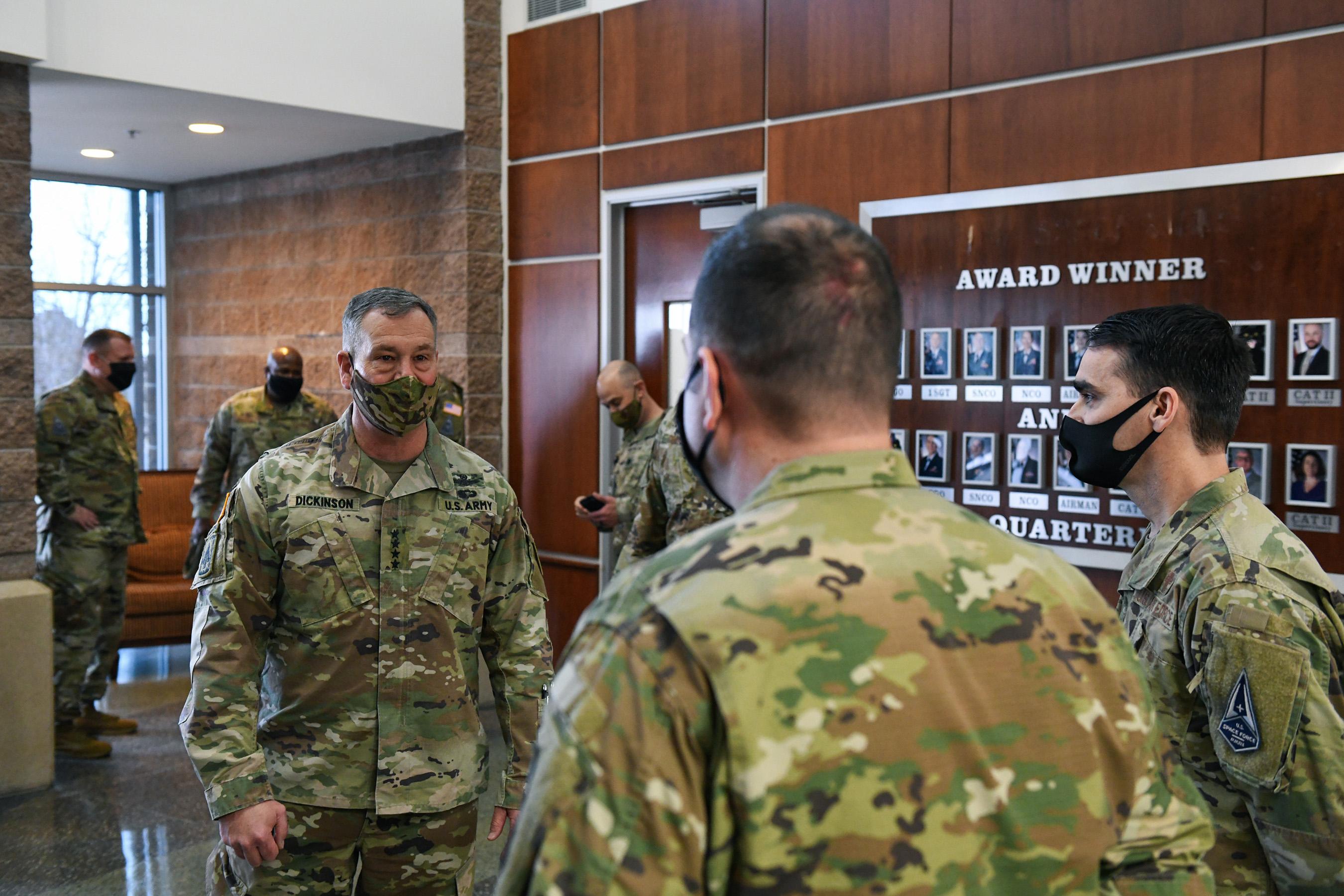 USSPACECOM commander visits Buckley