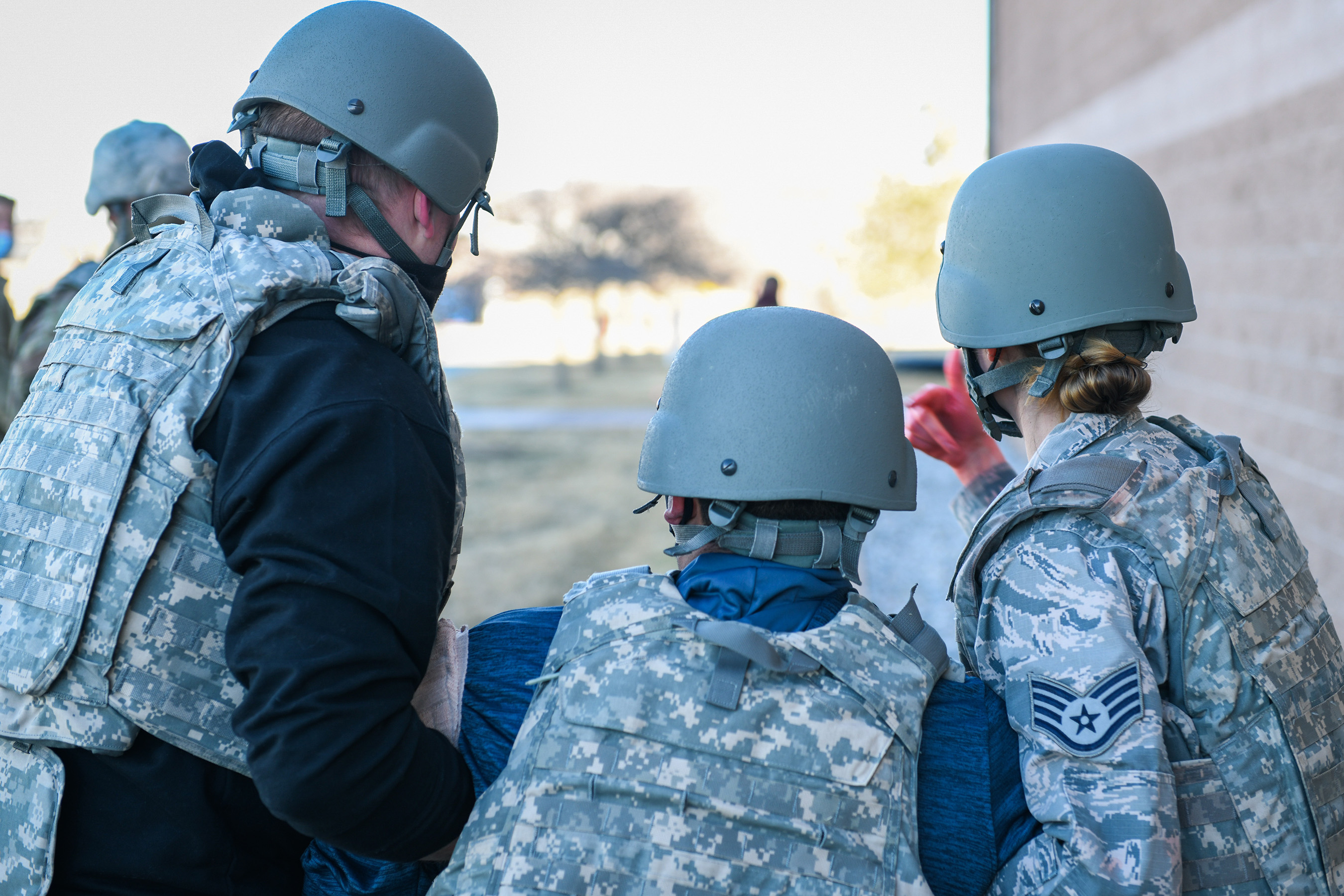 Buckley Medics participates in Tactical Combat Casualty Care exercise